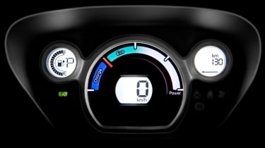 Citroen C-Zero dials