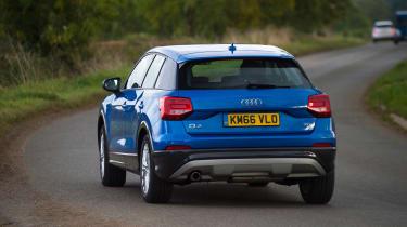 Audi Q2 - blue rear cornering