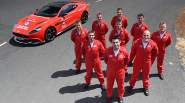 Red Arrows Aston Martin - group photo