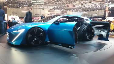 Peugeot Instinct concept Geneva - doors open front
