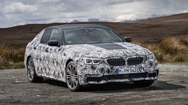 BMW 5 Series prototype 2016 - front quarter