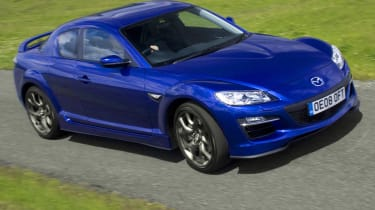 Mazda RX-8 coupe front tracking