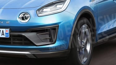 New Alpine SUV exclusive images lights