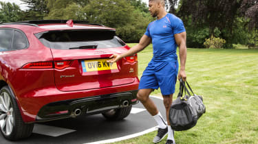Anthony Joshua - Jaguar F-Pace - opening boot