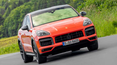 Porsche Cayenne Turbo Coupe - front cornering