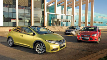 Honda Civic vs Focus and Golf