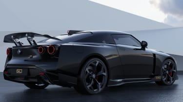Nissan GT-R50 by Italdesign - black rear 3/4 static