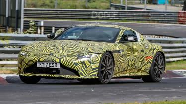 Aston Martin Vantage spy shot front quarter
