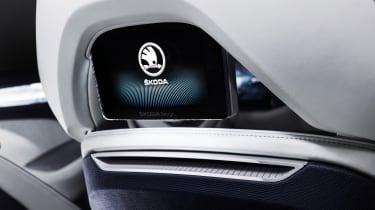 Skoda VisionS concept studio - rear seat screen