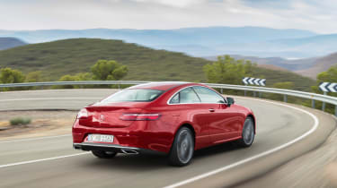 Mercedes E-Class Coupe - rear tracking