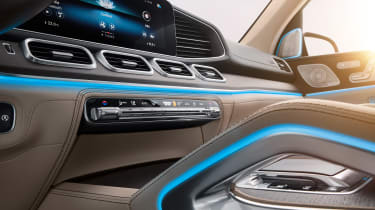 Mercedes GLS - studio interior detail