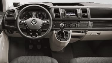 The interior is more car-like than ever before, with fixtures and fittings lifted straight from VW's passenger cars.