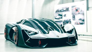 Lamborghini Terzo Millennio - front garage