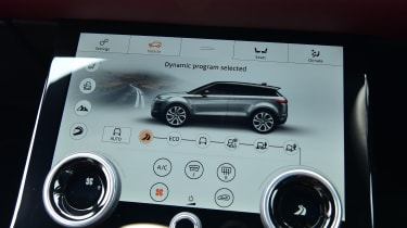 Range Rover Evoque lower screen