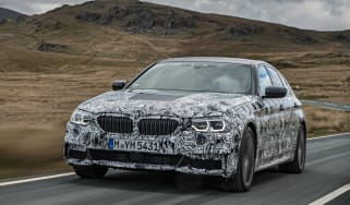 BMW 5 Series prototype 2016 - front tracking