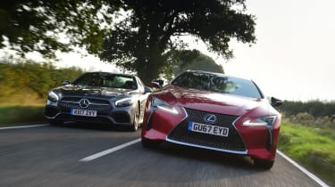 Lexus LC 500h vs Mercedes SL 400 - head-to-head