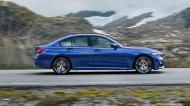 BMW 3 Series - blue side action