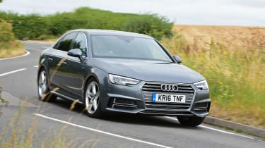 Audi A4 long-term test - front cornering
