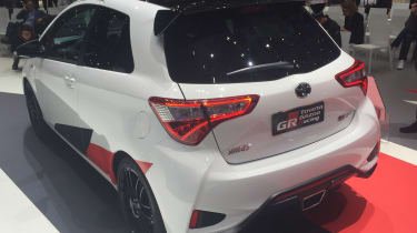 Toyota Yaris GRMN hot hatch 2017 - Geneva rear quarter