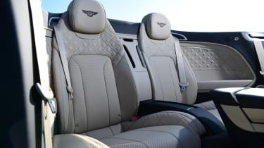 Bentley Continental GT Convertible - rear seats