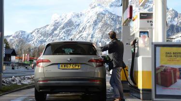 Skoda Karoq road trip - refuelling