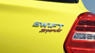 Suzuki Swift Sport long-term test - badge