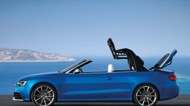 Audi RS5 Cabriolet roof mechanism