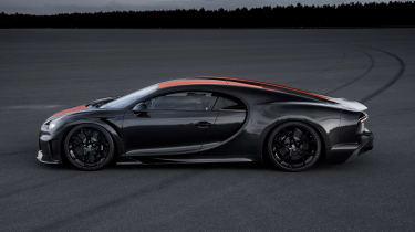 Bugatti Chiron - side shot
