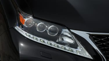 The recent facelift has given the front-end some LED headlights and a new grille borrowed from the GS model.