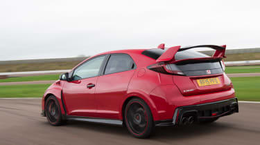 Honda Civic Type R long term - First Report rear tracking