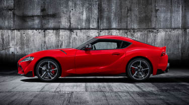 Toyota Supra - red side