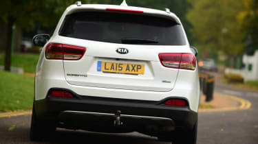 Kia Sorento long termer rear