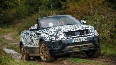 Range Rover Evoque Convertible passenger ride front