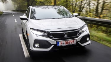 Honda Civic 2016 prototype - front tracking