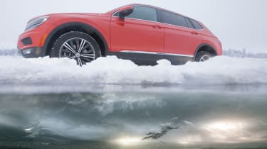 VW Tiguan Ice Road Driving