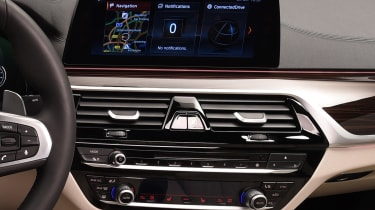 BMW 5 Series - studio infotainment screen