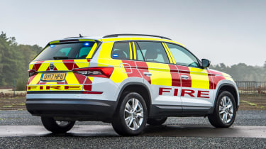 Skoda Kodiaq fire car - rear static