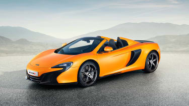 McLaren 650S Spider front three quarters