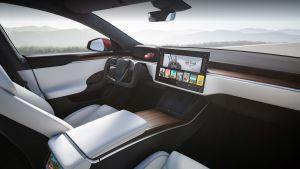 Tesla Model S facelift - dash
