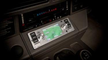 Jaguar Land Rover classic infotainment silver