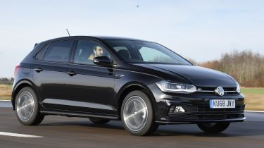 vw polo tracking front quarter