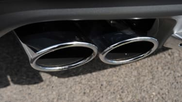 Audi S7 exhaust detail