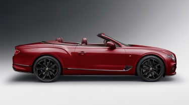Bentley Continental GT Convertible Number 1 Edition roof down