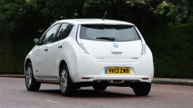 Nissan Leaf Visia rear action