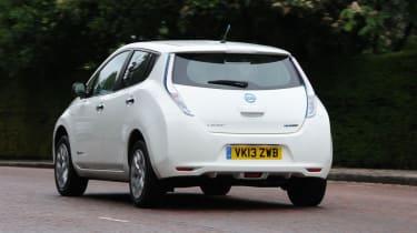 Nissan Leaf Visia rear action