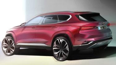 2019 Hyundai Santa Fe rendering - rear
