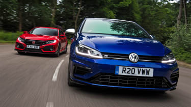 Volkswagen Golf R vs Honda Civic Type R - head-to-head