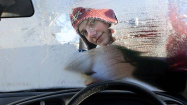 Icy windscreen