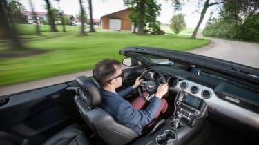Ford Mustang Convertible - interior driving