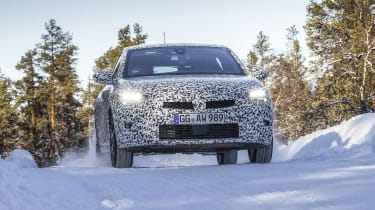 Vauxhall Corsa winter testing - full front